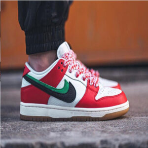Red and black color Nike sb dunk shoes