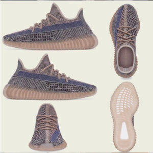 Brown color yeezy boost 350 v2 fade